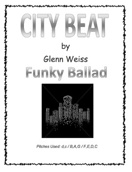 Recorder/iPad CITY BEAT (Funky Accompaniment Included)