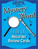 Recorder Mystery Word