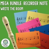 Recorder Notes Write the Room Activity BUNDLE
