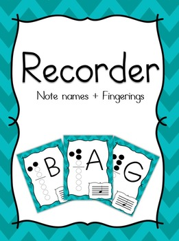 Recorder Notes and Fingerings - Teal