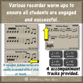 "Recorder Song ""Old Brass Wagon"" (Notes DEGAB) soprano recorder visuals"
