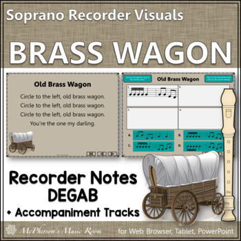 "Recorder Song ""Old Brass Wagon"" (Notes DEGAB) soprano reco"