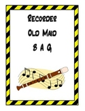 Recorder Old Maid