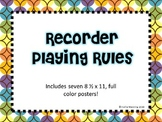 Recorder Playing Rules