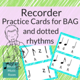 Recorder Practice Cards for BAG and Level 3 Rhythms