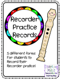 Recorder Practice Records