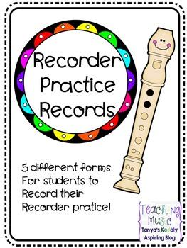 Recorder Practice Records