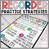 Recorder Practice Strategies Poster