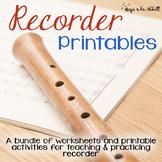 Recorder Printables {A HUGE Bundle of Worksheets, Games and More!}