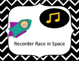 Recorder Race in Space