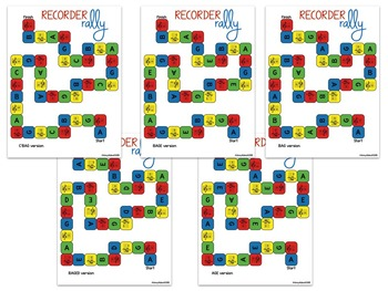 Recorder Rally: a Set of 10 Games for Recorder Fingerings