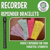 Recorder Reminder Bracelet- Forgot Recorder/Quiz Reminder