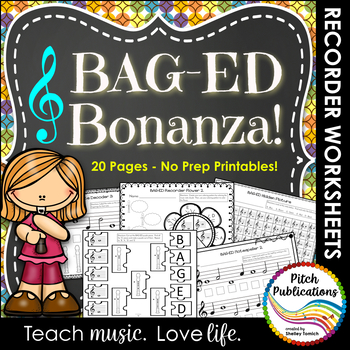 Recorder Resource: BAG-ED Bonanza - 20 Page No-Prep Record
