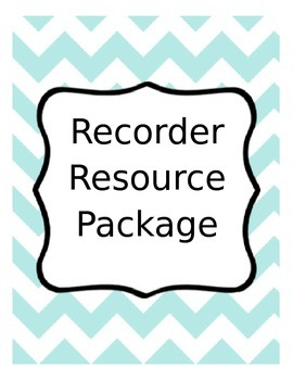 Recorder Resource Package