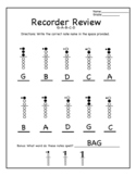 Recorder Review Notes G-A-B-C-D