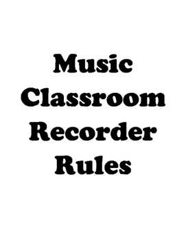 Recorder Rules