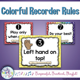 Recorder Rules Colorful