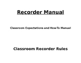 Recorder Rules/Manual