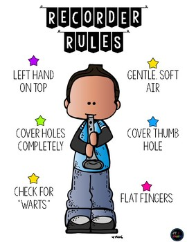 Recorder Rules Poster