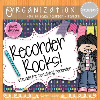 Recorder Rules Posters and Flashcards {Arrows}