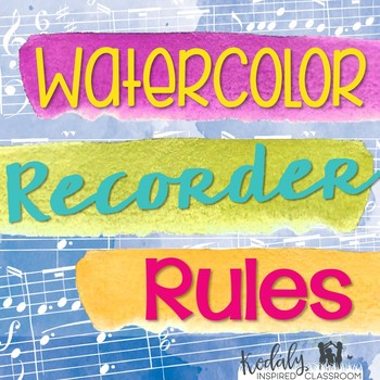 Recorder Rules {Watercolor}