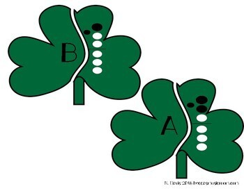 Recorder Shamrock Matching Game for Music Centers