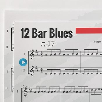 Recorder Sheet Music: 12-Bar Blues - Duet