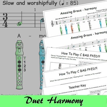 Recorder Songs - Amazing Grace Duet