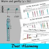 Recorder Songs - Au Clair de la Lune Duet