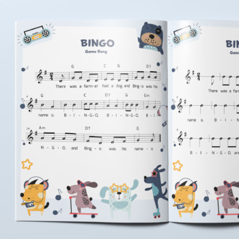 Recorder Sheet Music: Bingo (Game Song)