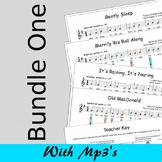 Recorder Sheet Music - Bundle One - Save 15%