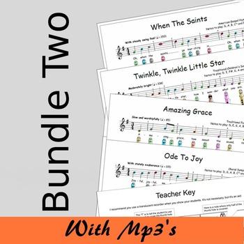Recorder Sheet Music - Bundle Two - Save 15%