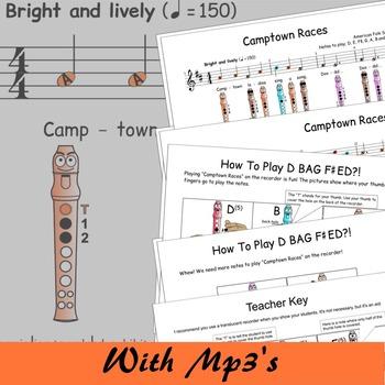 Recorder Sheet Music - Camptown Races