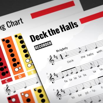 Recorder Sheet Music: Deck the Hall (Christmas Music)