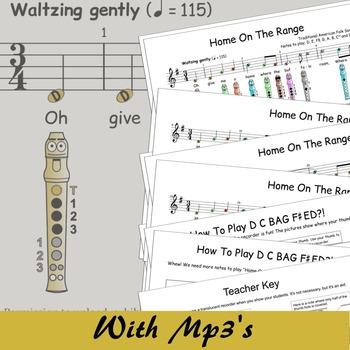 Recorder Sheet Music - Disney - Home On The Range (Digital Print)