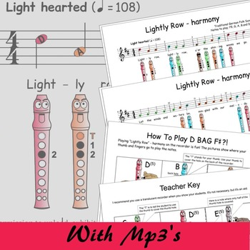 Recorder Songs - Lightly Row Duet
