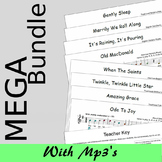 Recorder Sheet Music - MEGA Bundle One And Two - Save 20%