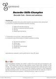 Recorder Skills Champion