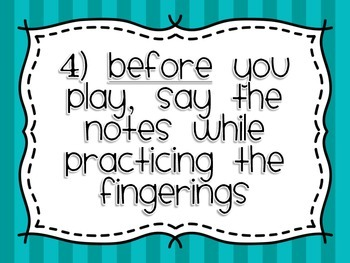Recorder Skills Checklist Posters