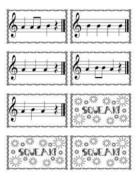 Recorder Small Group Card Game (A & B on Staff)