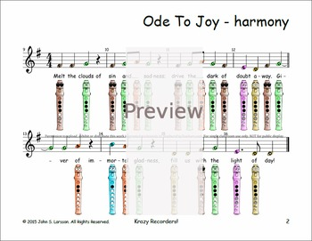 Recorder songs ode to joy duet by recorder songs and lessons tpt recorder songs ode to joy duet ccuart Gallery
