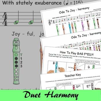 Recorder Songs - Ode To Joy Duet