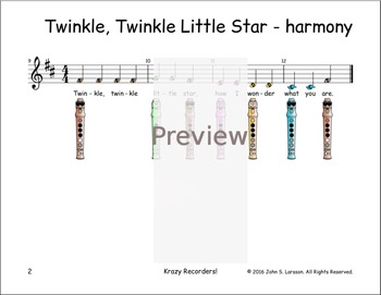 Recorder Songs - Twinkle, Twinkle Little Star Duet