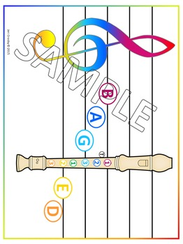 Recorder Staff Charts - Note Reading & Fingering - BAG & Pentatonic