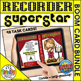 Recorder Superstar Fingerings  - Boom Card BUNDLE
