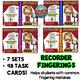 Recorder Superstar Fingerings  - Boom Card BUNDLE