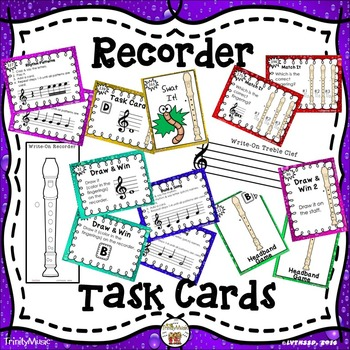 Recorder Task Cards