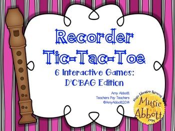 Recorder Tic Tac Toe: D'C'BAG Edition