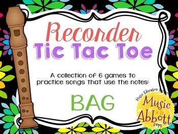 Recorder Tic Tac Toe, Song Edition: BAG