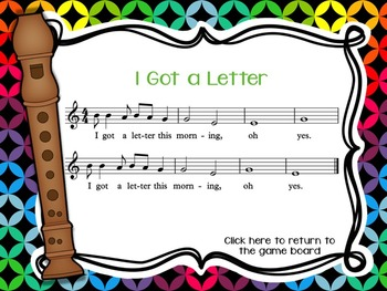 Recorder Tic Tac Toe, Song Edition: BAGE